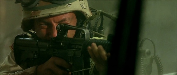CPT Steele fires his carbine.