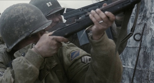 TSgt. Horvath firing his M1 Carbine.