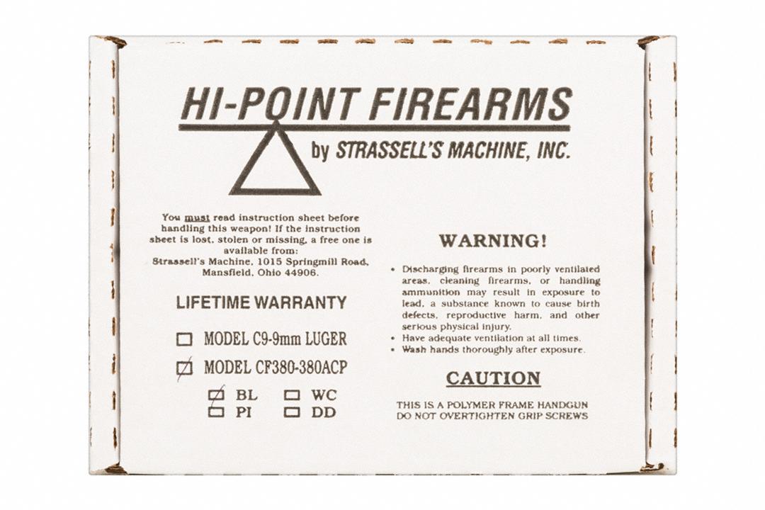 Hi Point Firearms CF380 | Gun Genius