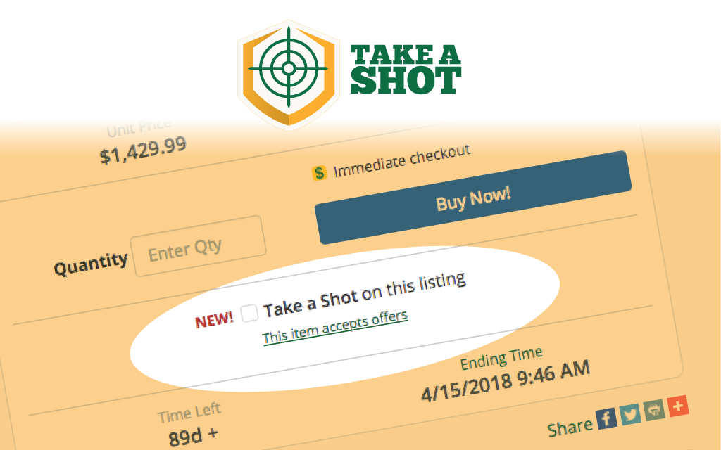 Example of GunBroker.com TAKE A SHOT Listing