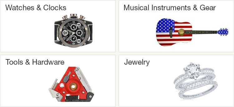 Shop Watches, Tools, Musical Instruments and Jewelry