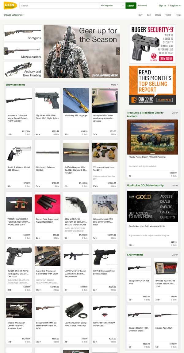 GunBroker.com Home Page