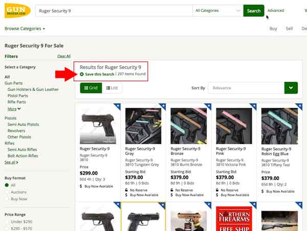 How to Buy a Gun: How to Buy Guns Online at GunBroker com